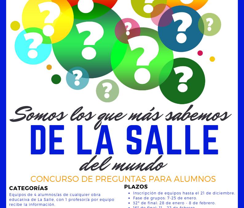 """Concurso """"Somos los que más sabemos de La Salle…"""""""