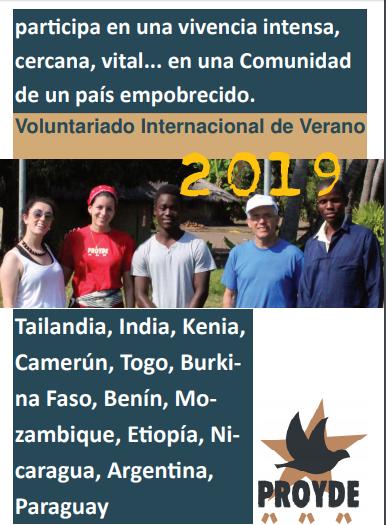 CONVOCATORIA DE PROYECTOS DE VERANO