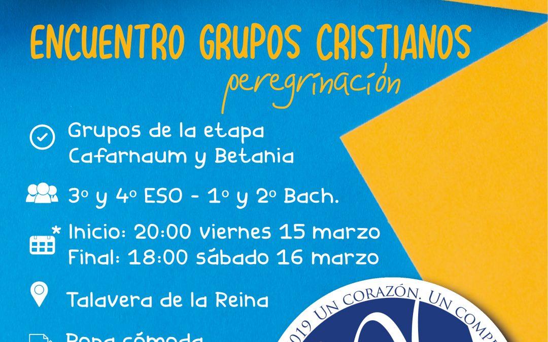 Encuentro de grupos cristianos etapa Cafarnaún y Betania.