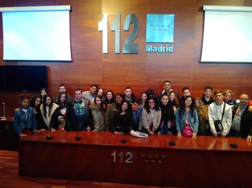Visita a las instalaciones del 112 por 1º CFGS Administración y Finanzas