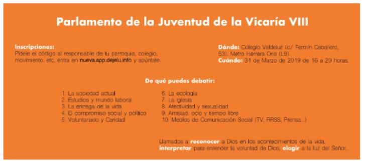 Parlamentos de la juventud Vicaría VIII.