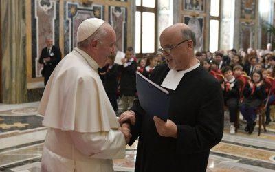 El Papa recibe a la familia lasaliana con motivo del Tricentenario de la muerte de San Juan Bautista de La Salle