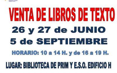LIBROS TEXTO: CURSO 2019/2020
