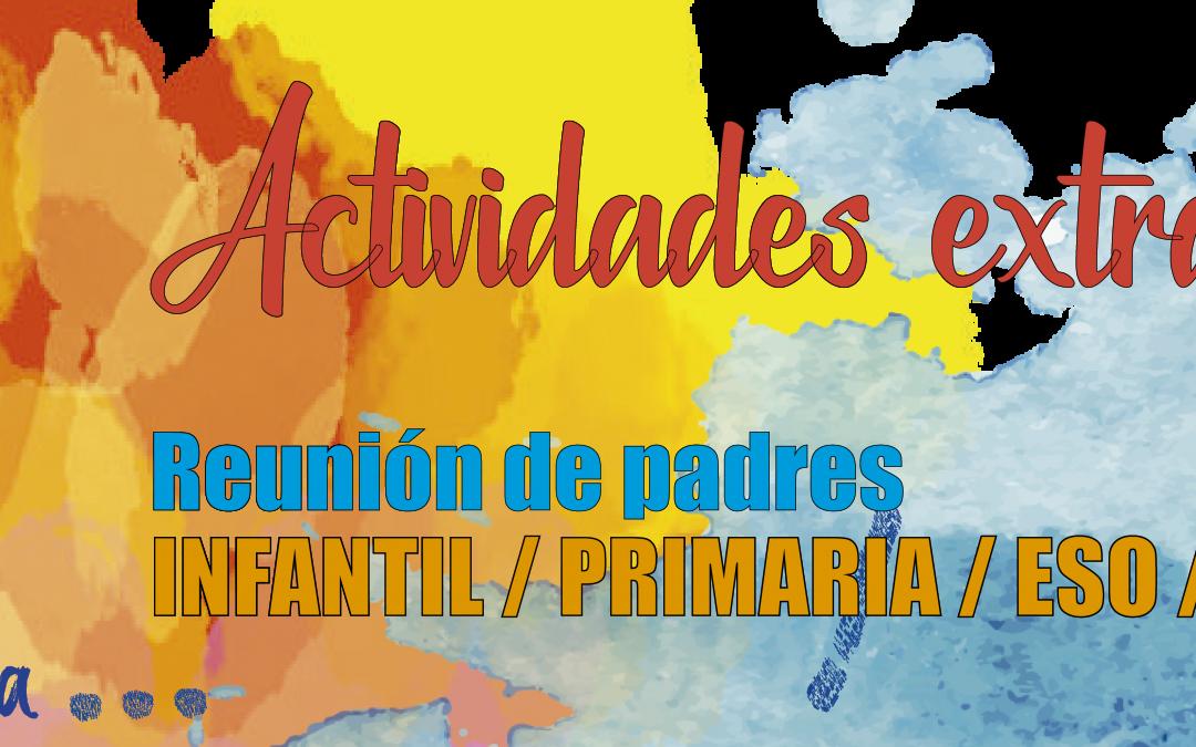 REUNIÓN DE PADRES: Actividades Extraescolares