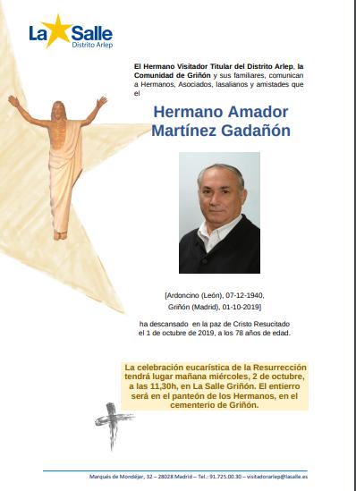 Fallecimiento del H.Amador.