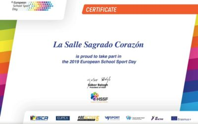 Certificado participación European Sport Day.