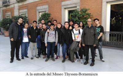 Visita Técnica al Museo Thyssen Ciclo Formativo de Grado Superior 2º de Sistemas de Telecomunicaciones e Informáticos