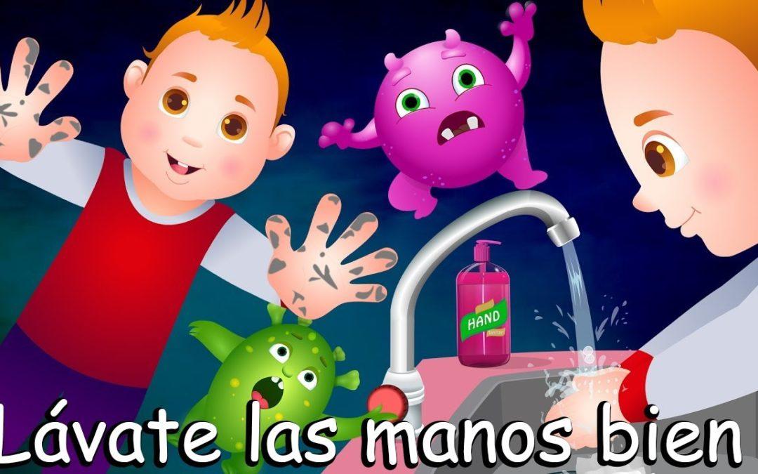 Lávate las manos, tus deditos te lo explican…para nuestros peques