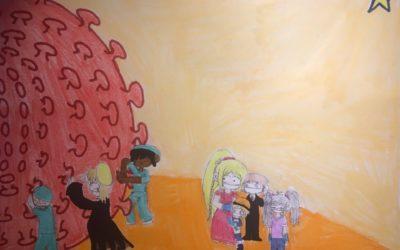 Finalistas primaria Concurso de Dibujo  #LaSallesequedaencasa