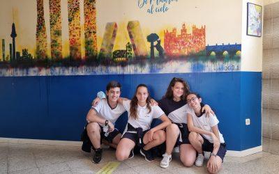 ESO: Alumnos de Primero de ESO realizan pintura mural
