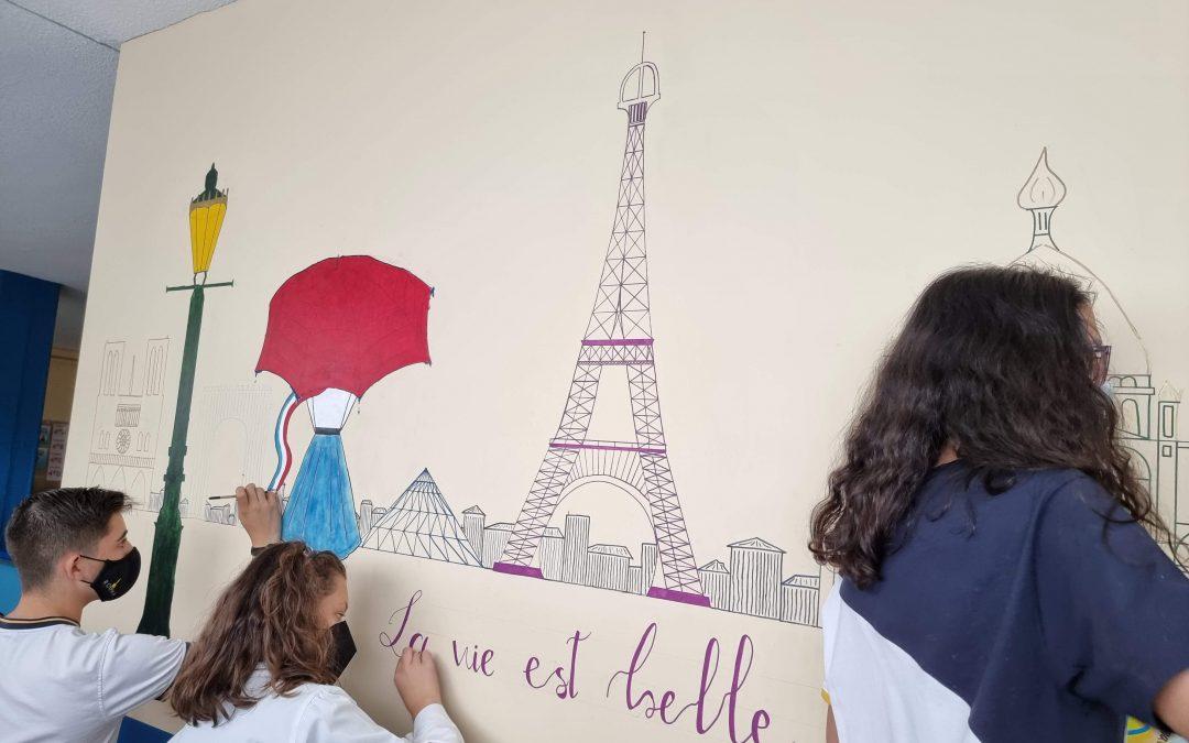 Secundaria: Un nuevo mural de los alumnos de Primero