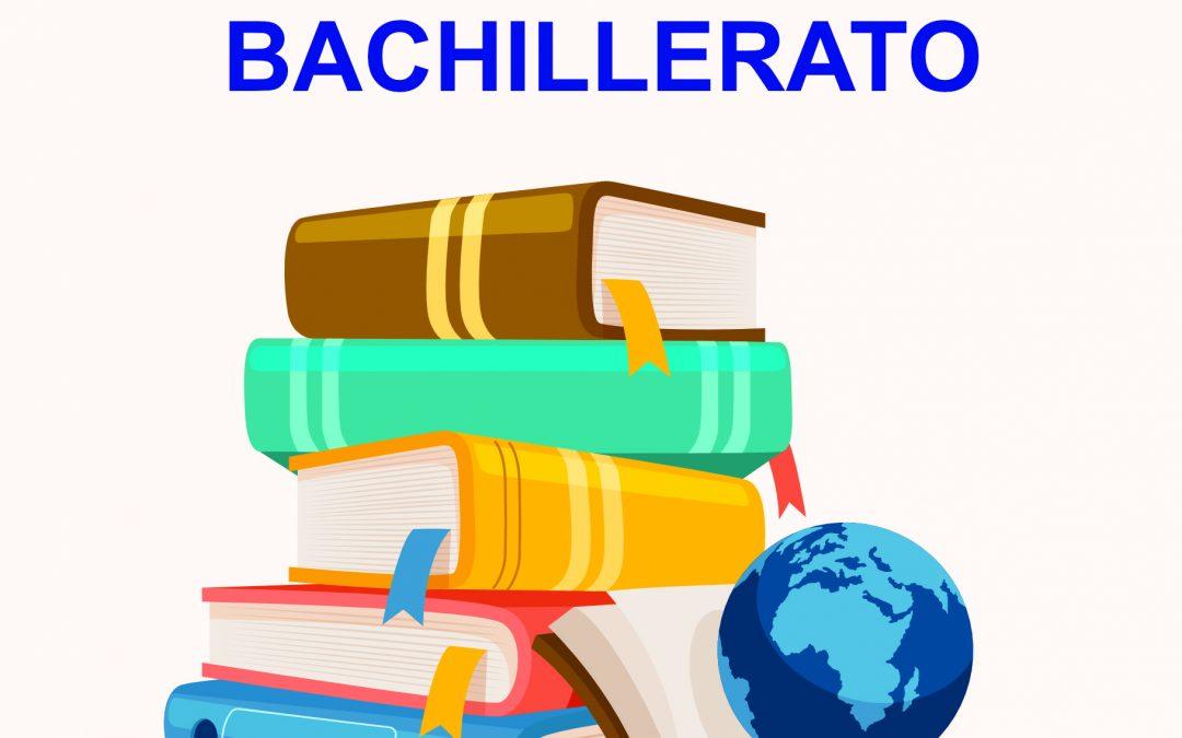 BACHILLERATO: Lista de libros